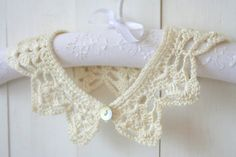 Ivory Crochet Lace Peter Pan Collar by allapples on Etsy, $24.00
