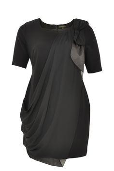 Dress bow shoulder