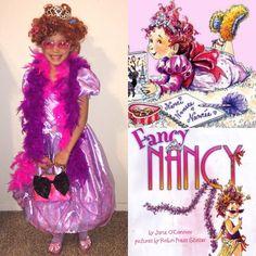 Fancy Nancy Costume Hallowen Costume, Family Halloween Costumes, Holidays Halloween, Halloween Fun, Costume Ideas, Book Character Pumpkins, Book Character Day, Character Dress Up, Storybook Character Costumes