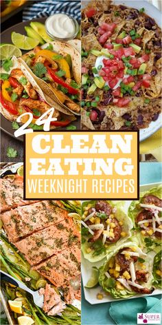 Save precious time in the evening with these clean eating weeknight dinner recipes. Dinner has never been so easy, or fast!