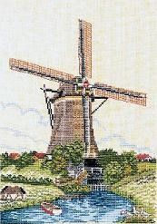 Nederlandse Molen - Dutch Windmill cross stitch