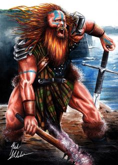 "The Dagda - Celtic Mythology –The Dagda is a father-figure (he is also known as Ollathair or ""All-father"") and a protector of the tribe.  www.pernastudios.deviantart.com"