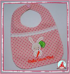 Fran made this bib using a design from Snuggle Bunny Applique at Bunnycup Embroidery.