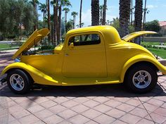 1934 Ford, Coupe 38000.00 USD This car is registered in the state of Arizona. Bright yellow, 350 chevy crate engine, power steering and power brakes, stereo, power hood, and power trunk. Car has less then 1,500 miles. Ready to roll at $38,000. Email Craig at craigb483@aol.com for more information. http://www.collectioncar.com/detailed.php?ad=52490&category_id=1