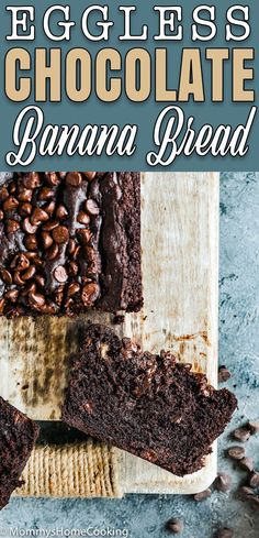 This Eggless Chocolate Banana Bread is moist, tender, and super chocolaty! It's quick to make with simple ingredients and beyond delicious. The best banana bread without eggs you will ever have! Banana Bread Without Eggs, Best Banana Bread, Banana Bread Recipes, Eggless Banana Bread Recipe, Eggless Desserts, Eggless Recipes, Eggless Baking, Dessert Recipes, Icing Recipes