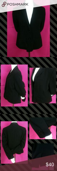🍸HP 11/27🍸Lauren Conrad Lined Solid Black Blazer Up for consideration is one new without tags Lauren Conrad Fully Lined Solid Black Blazer Size Large. This work chic blazer has a silky lining, is soft and fitted. Secured by 2 buttons, it has 1 pocket and a faux pocket in the front. The inside of the sleeves are lined with a black and white pinstripe so if you want to undo the three buttons that are on the base of the sleeve and roll it up it will reveal the cute pinstriped lining…