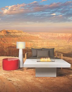 Transform your living space into a conversation starter for relaxation dreamscapes. Vibrant hues from our Ceramic Furniture Collection play soulmate to many of our furniture styles. Cozy up with red hues and outdoor fireplace ideas for fall Red Home Decor, Winter Home Decor, Winter House, Fall Decor, Indoor Outdoor Living, Outdoor Fire, Outdoor Sofa, Outdoor Furniture, Outdoor Decor