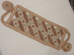 Cross Stitch Embroidery, Clothes Hanger, Needlepoint, Beads, Gold, Stitching, Coat Hanger, Beading, Costura