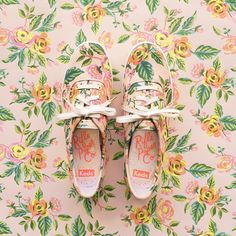 """""""Hello, Rifle Paper Co. × Keds! Meet the Champion in Jardin de Paris. Preorder now at rifle.co/keds…"""""""