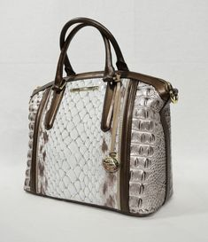NWT Brahmin Duxbury Leather Satchel/Shoulder Bag in Sky Carlisle for sale online Brahmin Handbags, Tote Handbags, Purses And Handbags, Fashion Handbags, Fashion Bags, Leather Purses, Leather Handbags, Sacs Design, Beautiful Bags