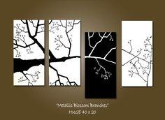 CUSTOM Metallic Blossom Branches  HUGE 40 x 20 by shannacreations, $225.00
