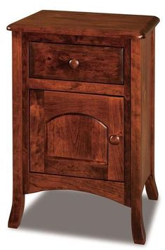 Amish Carlisle Taller Nightstand with One Drawer and One Door Solid wood storage for bedroom, the Carlisle creates space for bedside essentials. Built in Amish country in choice of wood and stain. #nightstands