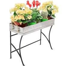 wrought iron plant stand rectangular - Google Search