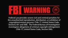 일부러 폼 좀 나는 FBI WARNING으로 올려봤습니다.