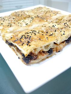 BOREK WITH POTATO & BLACK OLIVE FILLING  Ingredients: 4 Turkish pastry sheets  1 small size onion (chopped ...