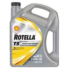 Shell ROTELLA T5 10W30  Synthetic Motor Oil, 1gal