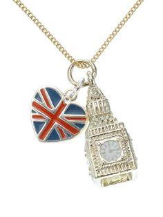 Big Ben Cluster Pendant Necklace - Accessorize-USA