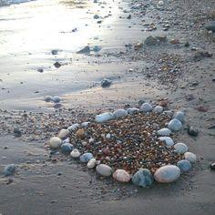 #nature #love #heart #sunset #sea #beach #summer #yaz #august #stone #rock #pebble #