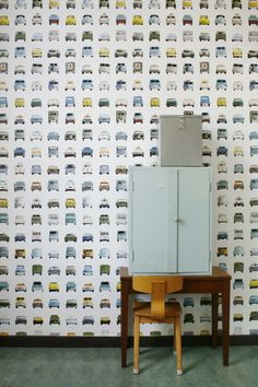 Studio Ditte Behang Cars wallpaper 02. Kinderkamer / Kids wallpaper. Interieur inspiratie interieur trends muurdecoratie