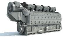 EMD Locomotive Engine 3D Model