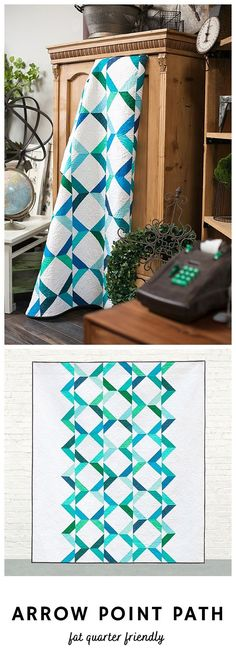 Arrow Point Path by Cheryl of Meadow Mist Designs is a fat quarter friendly pattern that uses half square triangles to quickly create a fun and interesting design. The confident beginner level pattern contains a coloring sheet to audition possible color schemes and fabrics. The pattern includes instructions for four sizes: baby, lap, twin, and queen. #arrowpointpath #fatquarterquilt #fatquarterfriendly #meadowmistdesigns Easy Sewing Projects, Quilting Projects, Quilting Ideas, Fat Quarter Quilt, Quilting Thread, Easy Stitch, Half Square Triangles, Summer Diy, Coloring Sheets