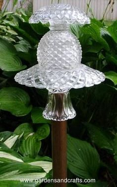 Image result for Glass Yard Art