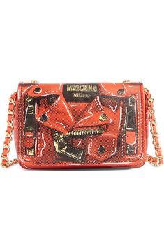 MOSCHINO 'Mini Biker' Print Shoulder Bag. #moschino #bags #shoulder bags #