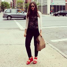 Juniper Barry in Red on the NYC streets!