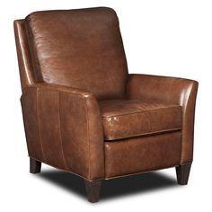 "Hooker Furniture Balmoral Albert Leather Recliner, $1,188. 37.5"" W x 30"" D x 39.5"" H. Hayneedle"
