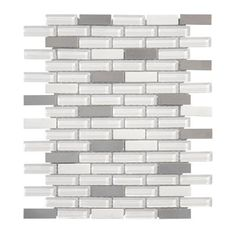 Jeffrey Court - 11 Inch x 12 Inch Silver Sky Glass/Stone/Stainless Steel Mosaic Wall Tile - 99732 - Home Depot Canada