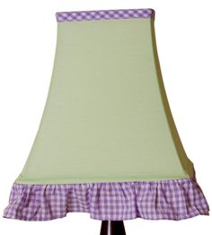 Pam Grace Creations Lamp Shade, Butterfly. Coordinates with lavender butterfly baby bedding.