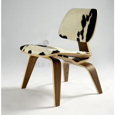 Charles Eames Style LCW Lounge Chair, Hide