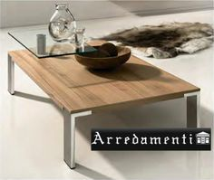Table basse bois et inox - Wood and Metal Work - PARIS