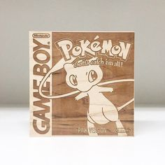 "On instagram by tempranodesign #gameboy #microhobbit (o) http://ift.tt/1PyM2OZ guys here's a new wood engraved #pokemon box-art! it's been a little while since I've done a Pokemon engraving this custom piece ""Pink Version"" is a #Valentinesday commission!  love the idea if anyone else would like a copy these will be available for order starting today! just send a DM or email me at info@tempranodesign.com  Have any cool ideas for other custom 'color versions' I should try out? let me know…"
