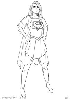 12 Best Supergirl Coloring Pages images in 2017 | Coloring books ...