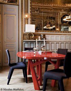 Rouge Shocking - Visite d'un hôtel particulier extra'Or'dinaire - Elle