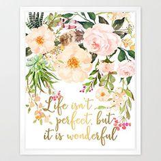 """Eleville """"8X10 Life isn't perfect, but it is wonderful Re... https://www.amazon.com/dp/B01L2Q8JL2/ref=cm_sw_r_pi_dp_x_pv0vybSVVXZWM"""