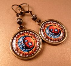 Hey, I found this really awesome Etsy listing at https://www.etsy.com/listing/97537762/tile-earrings-sun-and-moon-earrings