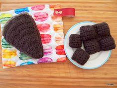 gâteau au choccolat, crochet, diy, grame