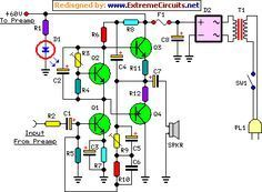 60 Watt Guitar Amplifier circuit project