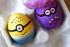 Minion decorated Easter Eggs by We Have Aars
