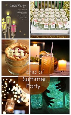 End of summer 'firefly party' ....not a fan of summer ending but if it has to...