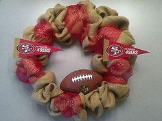 SF 49ers Football Wreath - NFL Sports