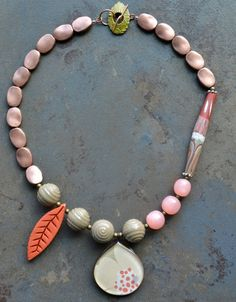 All you Need Necklace 2 featuring Humblebeads Long Polymer tube focal  By: Lorelei Eurto Jewelry