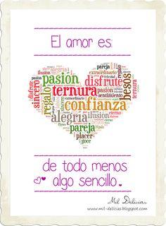 """Mil Delicias: Lámina """"El amor es"""""""