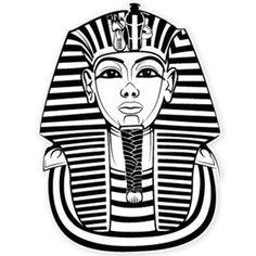 Vector image of Egyptian pharaoh Tutankhamun. Egyptian Pharaohs, Ancient Egyptian Art, Ancient Aliens, Ancient Greece, King Tut Tattoo, Dessin My Little Pony, Egyptian Drawings, Egypt Art, Silhouette Vinyl