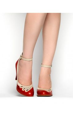 Pinup Girl Clothing- 1940s Jitterbug Pump in Red   Pinup Girl Clothing Via @Pinup Girl Clothing