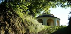 The Religious Trail of Montà d'Alba Glimpse of the Chapel of the Santo Sepolcro Roero wine region in Piemonte, Italy