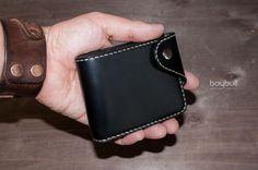Купить Портмоне Хантер 2 Антрацит - черный, портмоне, портмоне кожа, портмоне из кожи