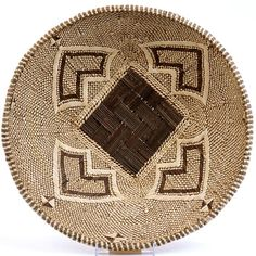 Plateau Basket from the baTonga people in Zambia. This is a Plateau basket which is traditionally used for winnowing grain.
